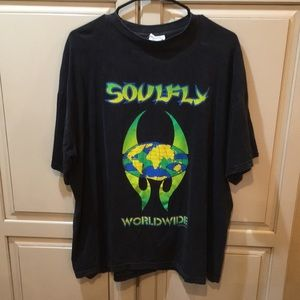 Vintage 90s soulfly band tour tee shirt xl
